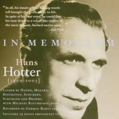 Hotter , Hans - In Memoriam - Lieder Recordings From RRG 1942/45