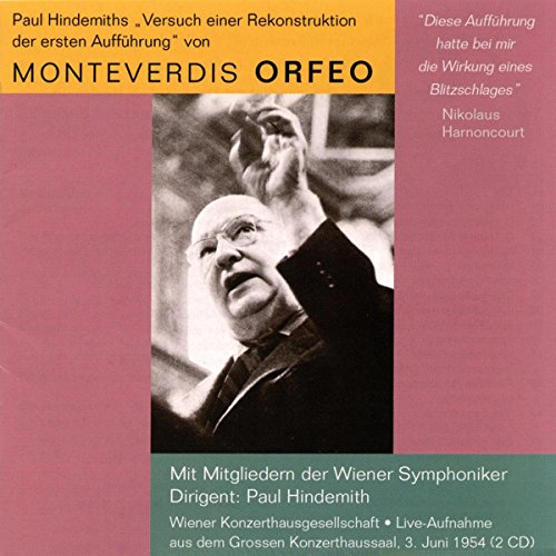 Monteverdi , Claudio - Orfeo (WS, Hindemith)