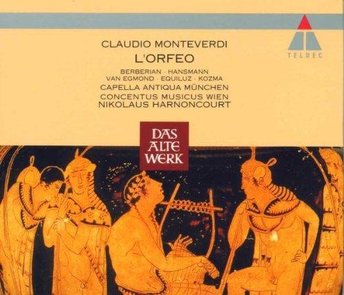 Monteverdi , Claudio - L'Orfeo (GA) (Berberian, Hansmann, Egmond, Equiluz, Kozma, Harnoncourt)