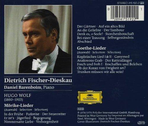 Fischer-Dieskau , Dietrich - Wolf: Mörike-Lieder / Goethe-Lieder (Barenboim)