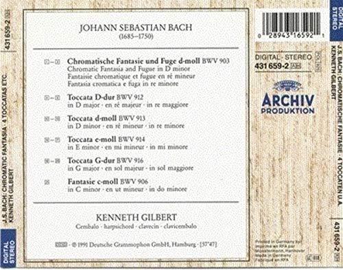 Bach , Johann Sebastian - Chromatische Fantasie & Fuge, 4 Toccaten u.a. (Kenneth Gilbert)