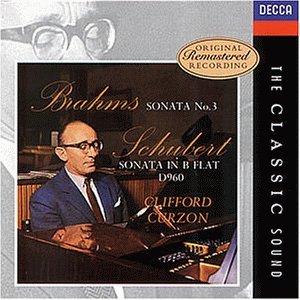 Curzon , Clifford - Brahms: Sonata No. 3 / Schubert: Sonata In B Flat, D960 (Remastered)
