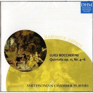 Boccherini , Luigi - Quintets Op. 11, 4-6 (Smithsonian Chamber Players)