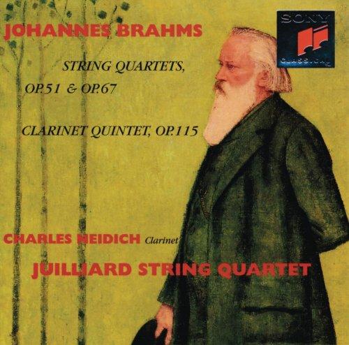 Brahms , Johannes - String Quartets, Op. 51 & Op. 67 / Clarinet Quontet, OP. 115 (Juilliard String Quartet & Charles Neidich)