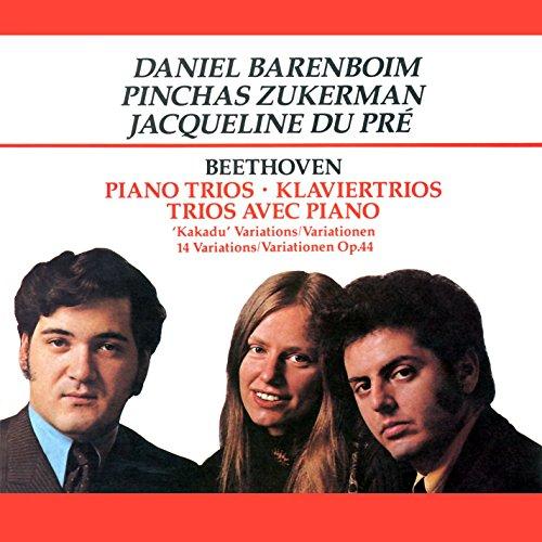 Beethoven , Ludwig van - Piano Trios / 'Kakadu' Variations / 14 Variations, Op. 44 (Barenboim, Zukerman, Du Pre)