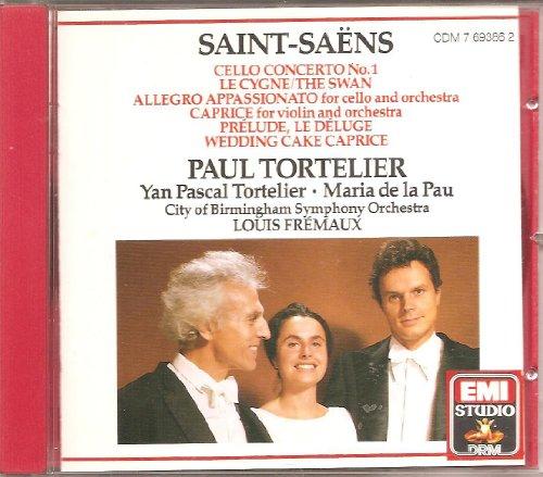 Saint-Saens , Camille - Cello Concerto No. 1; Le Cygne/The Swan; Allegro Appassionato; Caprice, Prelude, Le Deluge, Wedding Cake Caprice (Tortelier, Tortelier, Pau, Fremaux)