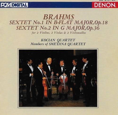 Brahms , Johannes - Sextet No. 1, Op. 18 / Sextet No. 2, Op. 36 (Kocian Quartet)