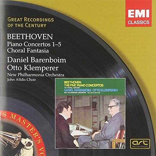Beethoven , Ludwig van - Piano Concertos 1-5 / Choral Fantasia (Barenboim, Klemperer, New Philharmonia Orchestra)