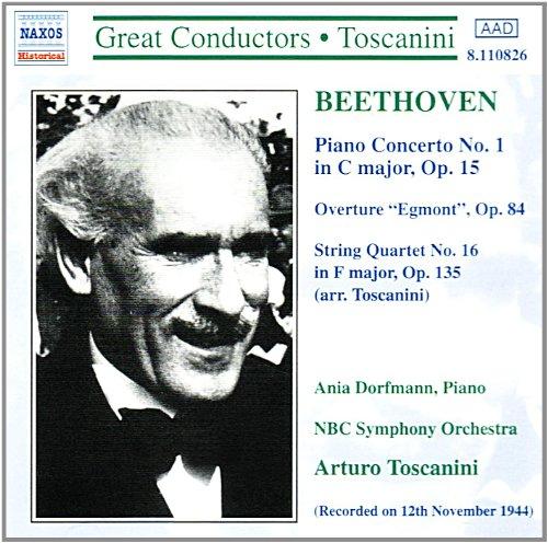 Beethoven , Ludwig van - Piano Concerto No. 1, String Quartett No. 16 usw. (Great Conductors, Toscanini)