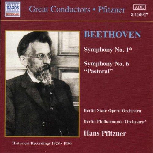 Beethoven , Ludwig van - Symphony No. 1 & Symphony No. 6 'Pastoral' (Pfitzner, BSOO, BPO)