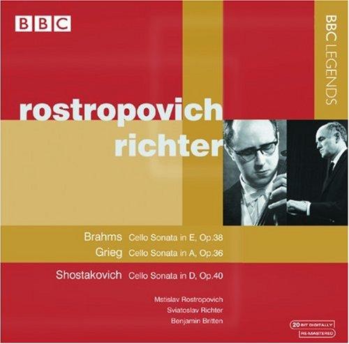 Rostropovich , Mstislav & Richter , Sviatoslav - Brahms: Cello Sonata, Op. 38 / Grieg: Cello Sonata, Op. 36 / Shostakovich: Cello Sonata, Op. 40 (Rostropovich, Richter, Britten)