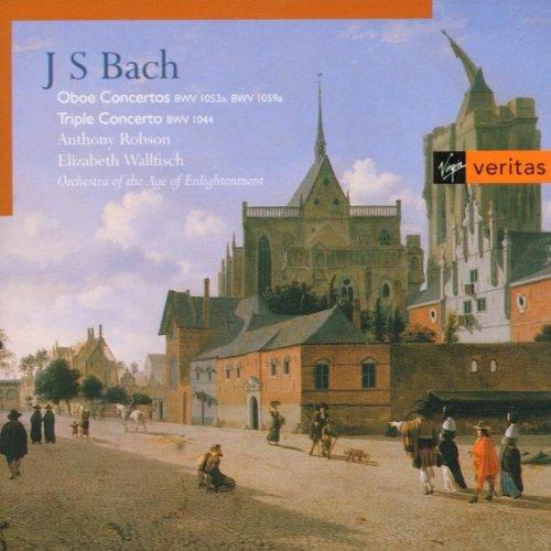 Bach , Johann Sebastian - Oboe Concertos BWV 1053a, BWV 1059a / Triple Concerto BWV 1044 (Robson, Wallfisch)