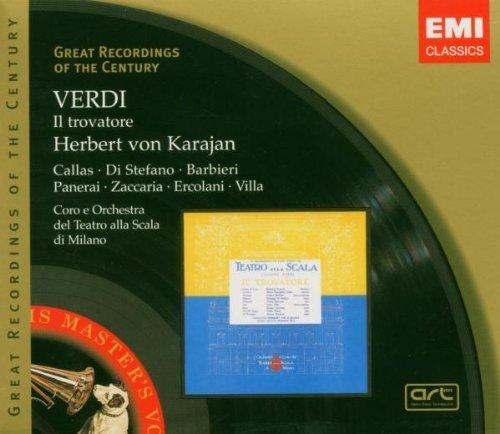 Verdi , Giuseppe - Il Trovatore (Karajan, Callas, Di Stefano, Barbieri, Panerai, Zaccaria, Ercolani, Villa)