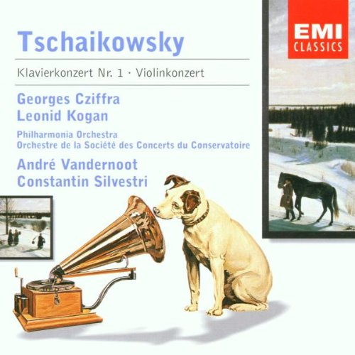 Tschaikowsky , Peter - Klavierkonzert Nr. 1 (Cziffra, Vandernoot) / Violinkonzert (Kogan, Silvestri)