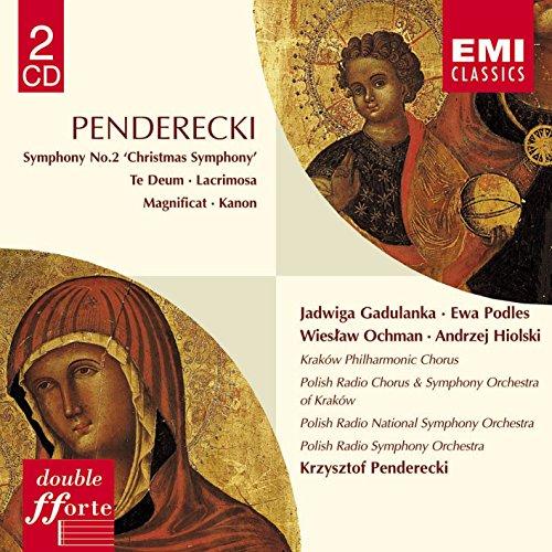 Penderecki , Krzysztof - Symphony No. 2 'Christmas ' / Te Deum / Lacrimosa / Magnificat, Kanon (Gadulanka, Podles, Ochman, Hiolski, Penderecki)