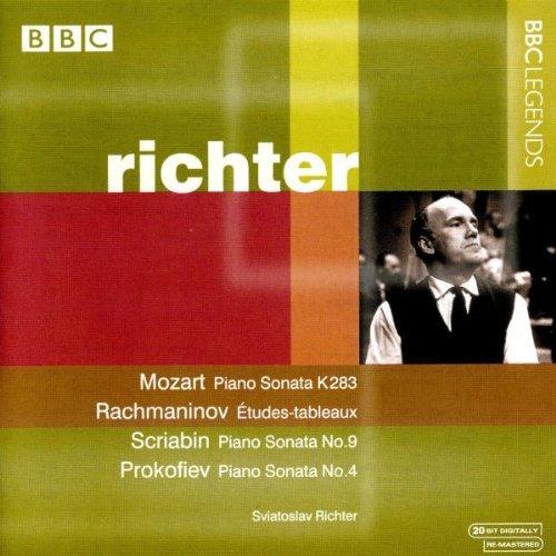 Richter , Sviatoslav - Mozart: Piano Sonata K 283 / Rachmaninov: Etudes-Tableaux / Scriabin: Piano Sonata No. 9 / Prokofiev: Piano Sonata No. 4 (Richter)