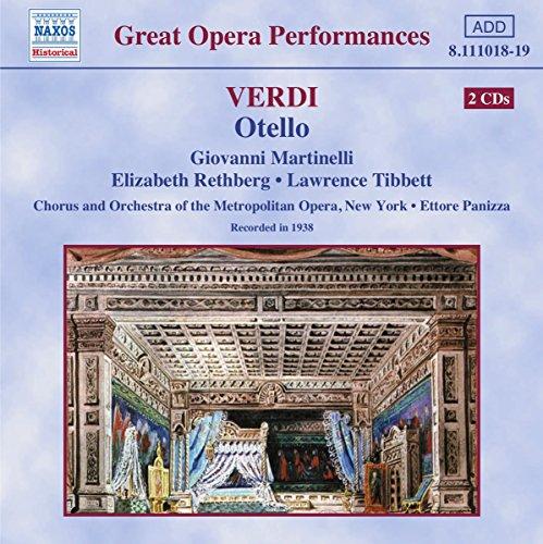 Verdi , Giuseppe - Otello (Martinelli, Rethberg, Tibbett, Panizza)