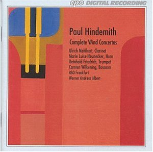 Hindemith , Paul - Complete Wind Concertos (Mehlhart, Neunecker, Friedrich, Wilkening, RSO Frankfurt, Albert)