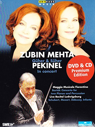 Pekinel , Güher & Süher / Mehta , Zubin - In ConcertBartok: Concerto For Two Pianos And Percussion / Schubert, Mozart, Debussy, Infante (Live Recital Ludwigsburg) (Premium Edition)