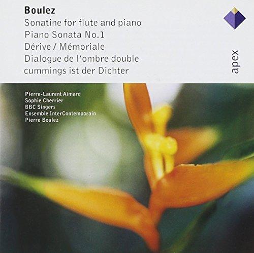 Boulez , Pierre - Sonatine For Flute And Piano / Piano Sonata No. 1 / Derive/Memoriale / Dialogue De L'Ombre Double / Cummings ist der Dichter (Aimard, Cherrier, Boulez