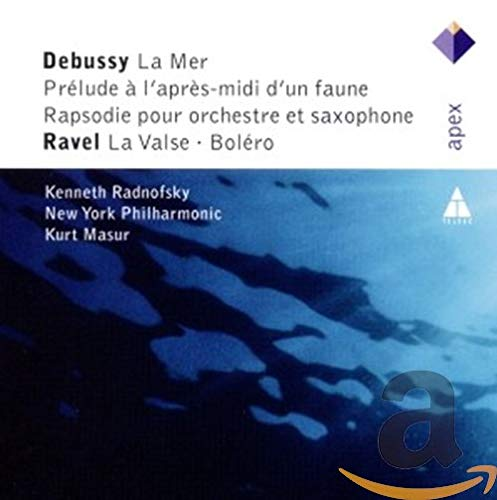 Radnofsky , Kenneth & NYP & Masur , Kurt - Debussy: La Mer; Prelude A L'Apres-Midi D'Un Faune; Rapsodie Pour Orchestre Et Saxophone / Ravel: La Valse; Bolero