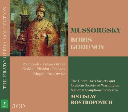 Mussorgsky , Modest - Boris Godunov (Raimondi, Vishnevskaya, Geda, Plishka, Polozov, Riegel, Tesarowicz, Rostropovich) (The Erato Opera Collection)