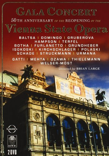 DVD - Gala Concert - 50th Anniversary Of The Reopening Of The Vienna State Opera (Domingo, Hampson, Terfel, Kirchschlager, Schade, Mehta, Ozawa, Thielemann)