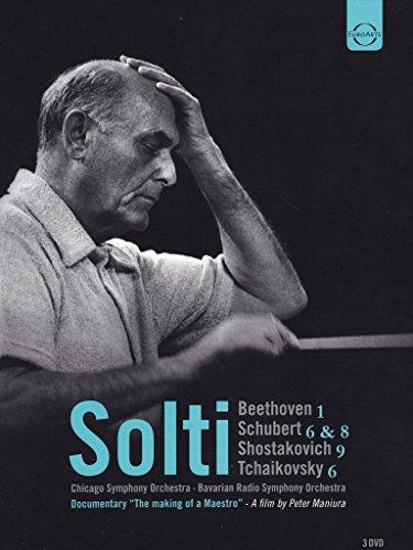 Solti , Georg - Beethoven 1 / Schubert 6 & 8 / Shostakovich 9 / Tchaikovsky 6 (Solti, CSO, SOBR) (DVD)