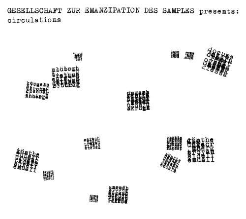 Gesellschaft zur Emanzipation des Samples - Circulation