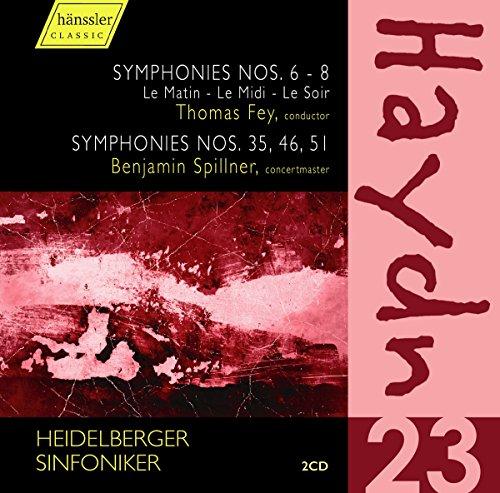 Haydn , Joseph - Symphonies Nos. 6-8 (Le Matin - Le Midi - Le Soir) (Fey) / Symphonies Nos. 35, 46, 51 (Spillner) (Heidelberger Sinfoniker)