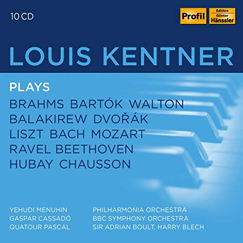 Kentner , Louis - Louis Kentner Plays Brahms Bartok Walton Balakirew Dvorak Liszt Bach Mozart Ravel Beethoven Hubay Chausson (Menuhin, Cassado, Boult, Blech)