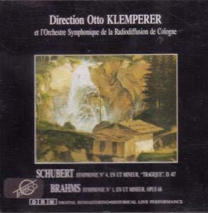 Klemperer , Otto & RSOK - Schubert: Symphonie No. 4 'Tragique' / Brahms: Symphonie No. 1