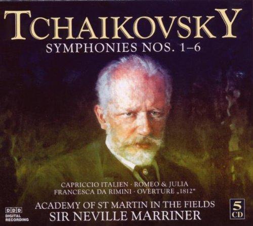 Tchaikovsky , Peter - Symphonies Nos. 1-6 / Capriccio Italien, Romeo & Julia, Francesca Da Rimini, Overture '1812' (Marriner)