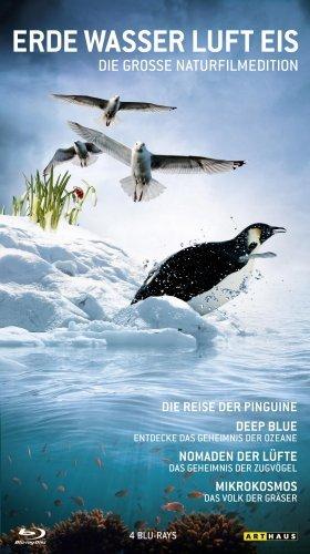 Blu-ray - Erde, Wasser, Luft, Eis - Die grosse Naturfilmedition (Mikrokosmos, Deep Blue, Nomaden der Lüfte, Die Reise der Pinguine)
