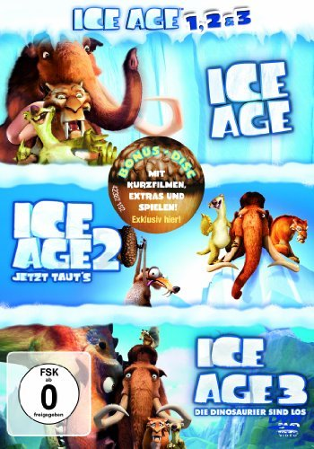 DVD - Ice Age 1 - 3