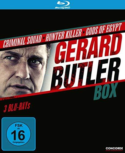 Blu-ray - Gerard Butler Box (Criminal Squad / Hunter Killer / Gods Of Egypt)