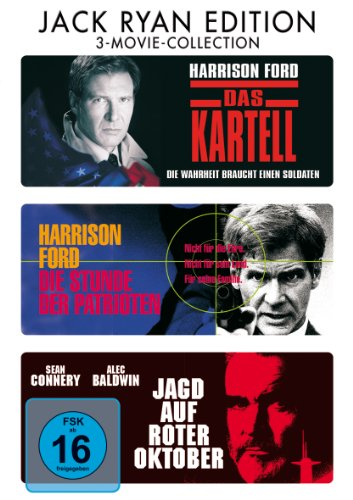 DVD - Das Kartell / Die Stunde der Patrioten / Jagd auf Roter Oktober (3-Movie-Collection) (Jack Ryan Edition)