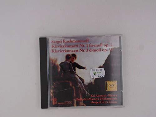 Rachmaninov , Sergej - Klavierkonzert Nr. 1 fis-moll, Op. 1 / Klavierkonzert Nr. 3 d-moll, Op. 30 (Adomeit, Lücker)