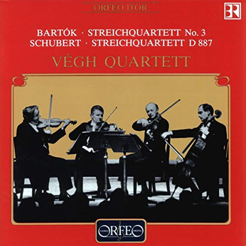Vegh Quartett - Bartok: Streichquartett No. 3 / Schubert: Streichquartett, D. 887