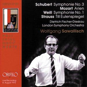 Schubert, Weil, Strauss, Mozart - Symphonie No. 3; Symphonie No. 1; Till Eulenspiegel; Arien (Fischer-Dieskau)