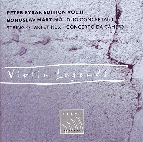 Martinu , Bohuslav - Violin Legends: Duo Concertant / String Quartet No. 6 / Concerto Da Camera (Peter Rybar Edition 2)