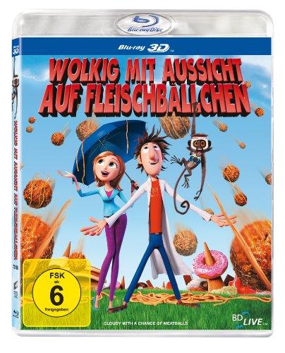 - Wolkig mit Aussicht auf Fleischbällchen (3D Version) [3D Blu-ray]