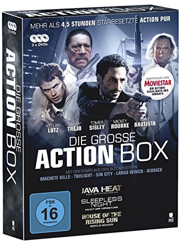 DVD - Die grosse Action Box (Java Heat / Sleepless Night - Nacht der Vergeltung / House Of The Rising Sun - Nichts zu verlieren) (3 DVD BOX SET)