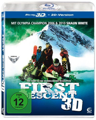 Blu-ray - First Descent 3D - The Story of the Snowboarding Revolution