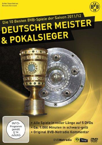 DVD - Die 10 besten BVB-Spiele der Saison 2011 / 2012 - Deutscher Meister & Pokal Sieger