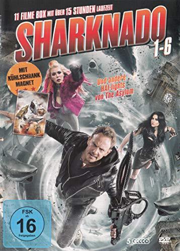 DVD - Sharknado Teil 1-6 - die komplette Serie & Kühlschrankmagnet - 5DVD Box