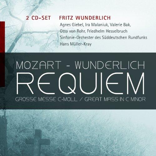 Mozart , Wolfgang Amadeus - Mozart - Wunderlich: Requiem / Grosse Messe C-Moll (Wunderlich, Giebel, Malaniuk, Bak, Rohr, Hesselbruch, Müller-Kray)