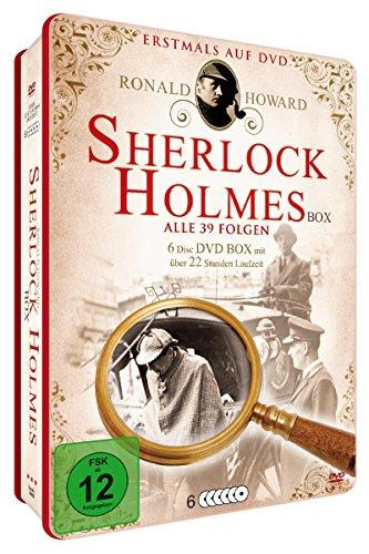 DVD - Sherlock Holmes Box (Ronald Howard) (Alle 39 Folgen) (Metallbox Edition)