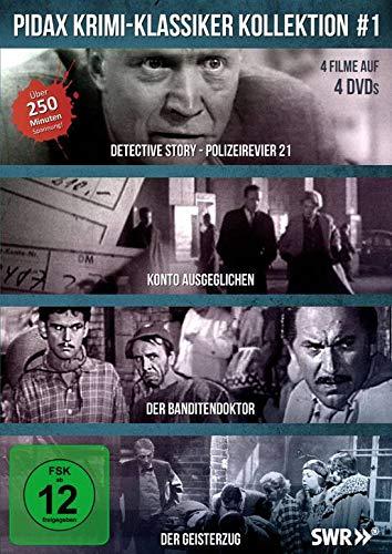 DVD - Pidax Krimi-Klassiker Kollektion 1 ( Detective Story - Polizeirevier 21 / Konto Ausgeglichen / Der Banditendoktor / Der Geisterzug)