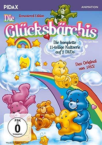 DVD - Die Glücksbärchis - Remastered Edition / Die komplette 11-teilige Kultserie + 2 Bonusfolgen (Pidax Animation) [2 DVDs]